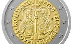 Ενόχλησε τήν Κομισιόν τό φωτοστέφανο στούς Κύριλλο καί Μεθόδιο στό κέρμα τών 2 ευρώ τής Σλοβακίας.