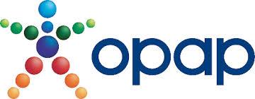 Τό σήμα τού ΟΠΑΠ όπως υπάρχει στήν επίσημη ιστοσελίδα τους.