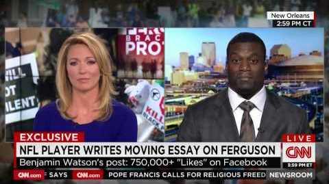 Ο Benjamin Watson κόπηκε στον αέρα στο CNN διότι μίλησε για τον Χριστό